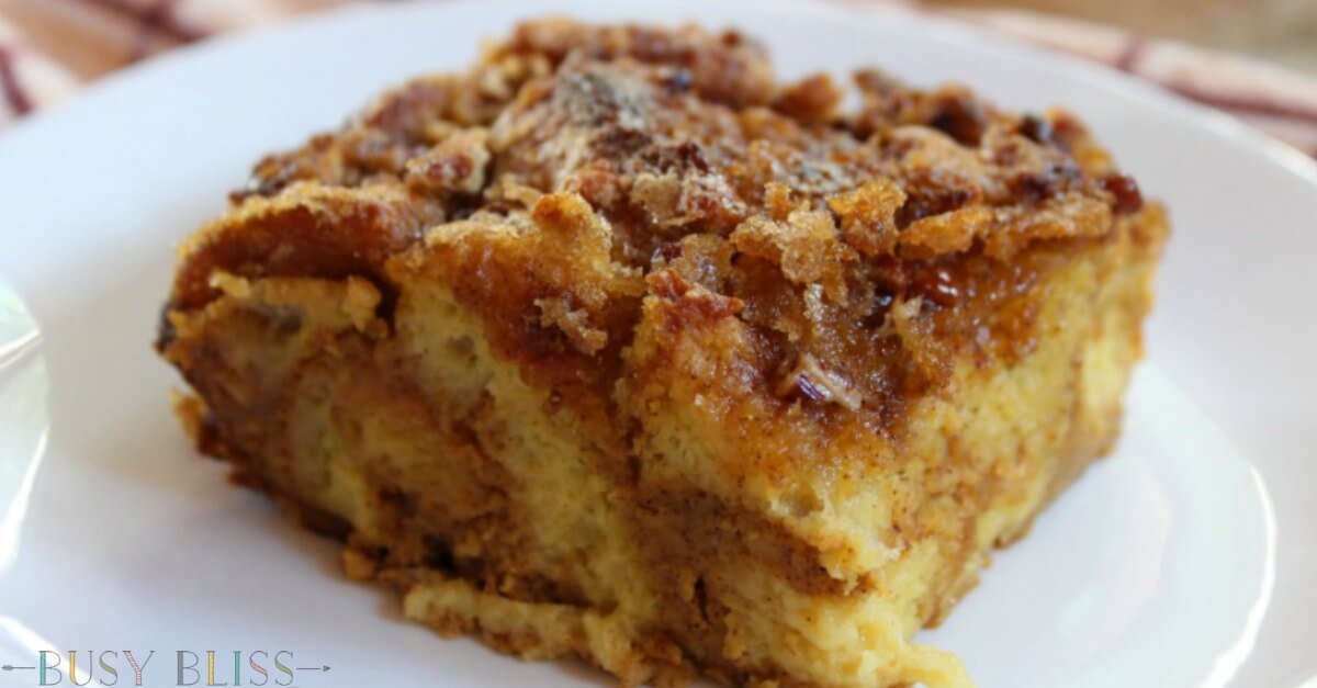 The Most Delicious Pumpkin French Toast Bake - Busy Bliss